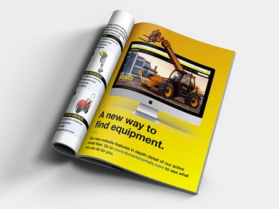 Debut Website Ad magazine catalog construction homepage computer mac web website