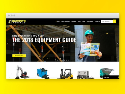 Construction Website ecommerce blog slides yellow construction catalog ui ux website homepage web design