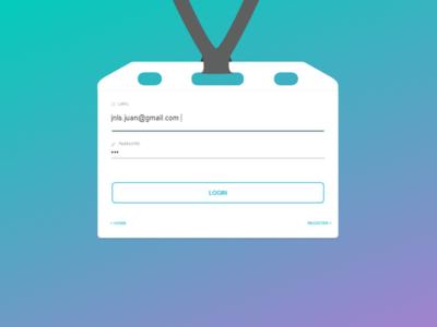 Login credential concept access mobile web app ui ux angular5 desing material credential login