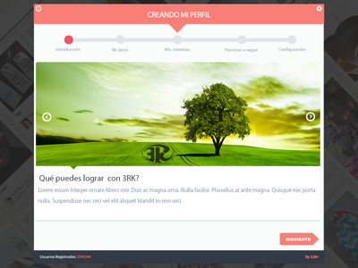 Profile Step1 3rk tree green mobile app web wizard steps register create profile