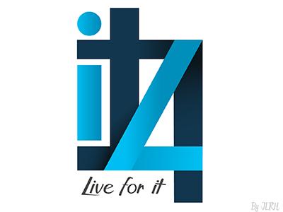 L4it Logo Concept it for live blue l4it concept branding logo