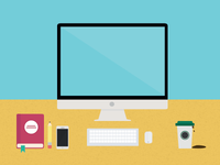 Flat Working Desk