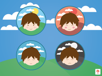 Cute Boy and His Emotions (.AI)
