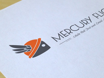 Mercury Flight Logo hermes wings branding identity automated call text email robot cap