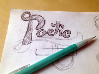 Poetic Type typography sketch calligraphy cursive