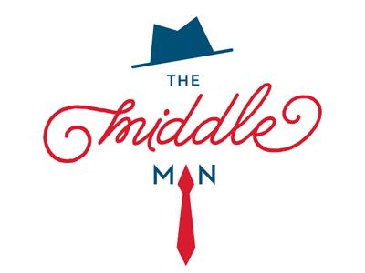 The Middle Man hat tie necktie logo