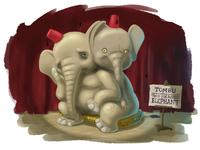 Tombu the two headed elephant.