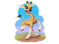 Awkward Baby Giraffe
