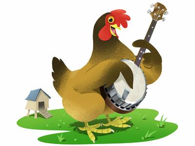 A Plucking Chicken.