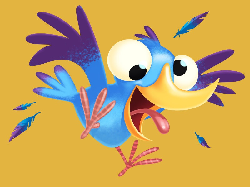Nutty Bird packaging birdfood packaging illustration character design clip studio paint illustration