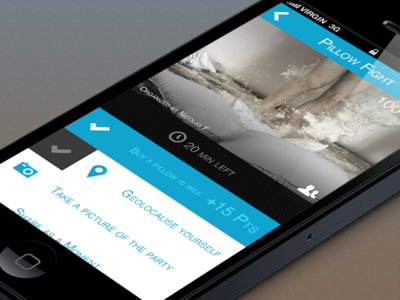 iPhone App Interface  ui ux ios app iphone flat design blue challenge claire paoletti interface