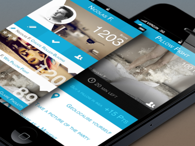 iPhone App Interface claire paoletti design ui ux app blue flat ios iphone challenge interface
