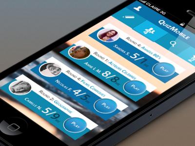 Quizz mobile round application login blue ios claire paoletti quizz app