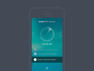 Flow claire paoletti ux blue objective dyslexia apps iphone timer focus flat ui design music