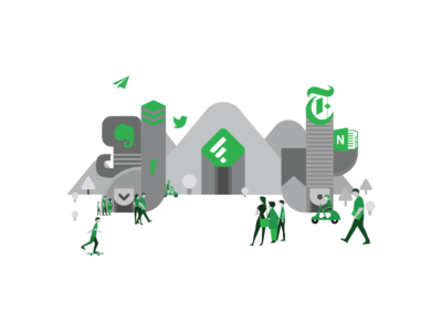 Feedly world feedly app feedly characters green evernote notebook