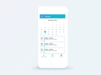 Calendar freebie material design material calendar claire paoletti card android app shift