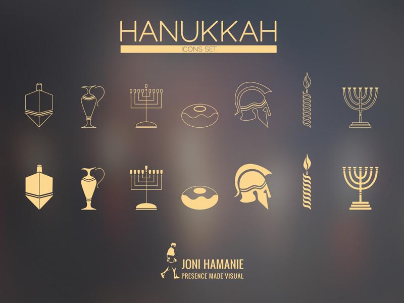 Hanukkah Icons icons ui holidays icons set web mobile