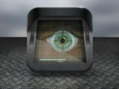 RetScan icon mobile icon skeuomorphism realistic realism eye app