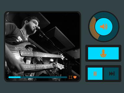 Flat Player UI ui player flat buttons