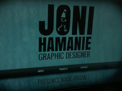 Joni Hamanie website web design portfolio scroll one page noir dark black
