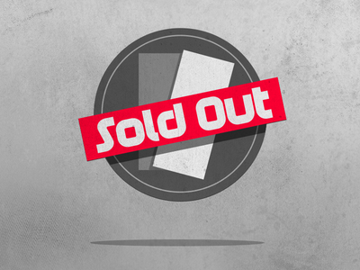 Sold Out ui icon logo button grunge