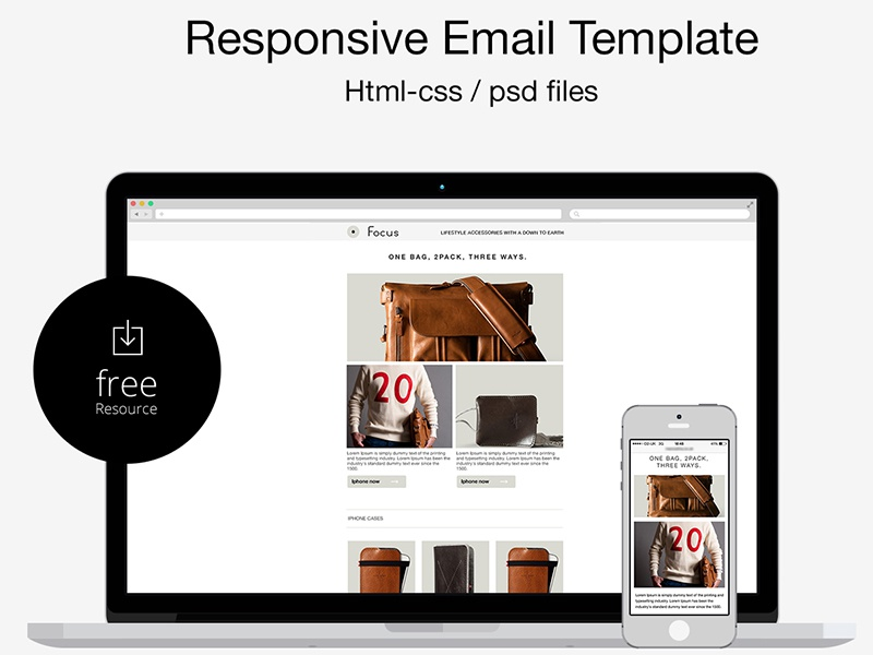 Free Psdhtml Responsive Email Template By Marco Lopes Dribbble - Open source email templates