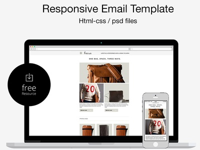 Free PsdHtml Responsive Email Template By Marco Lopes  Dribbble
