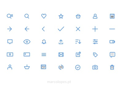 UI Icons Free pack - for Sketch in vector shapes
