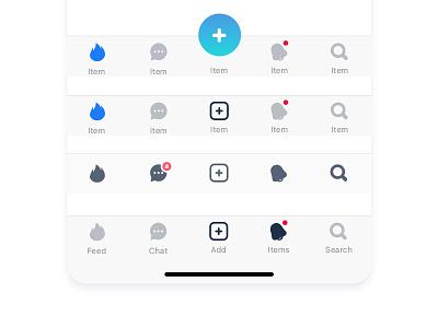 ToolBar experiment iconography icons shop market appdesign design app iphonex ios11 toolbar
