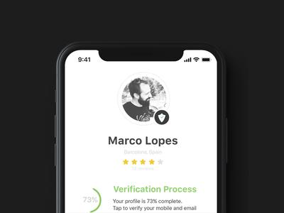 Simple Profile Screen v1 shop market feed appdesign ux ui design app iphonex