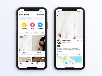 01 Market Place X1 - UI kit shop market feed appdesign ux ui design app iphonex
