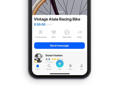 03 Market Place - Product Detail Page iconography icons shop market feed appdesign ux ui design app iphonex