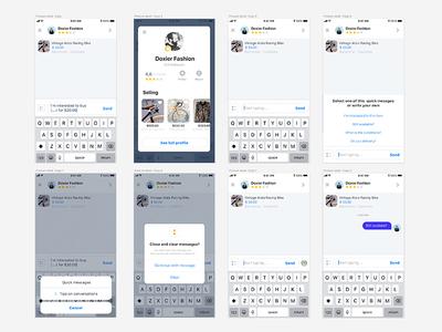 04 MarketPlace - Chat Initiation iconography icons shop market feed appdesign ux ui design app iphonex