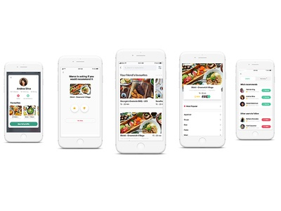 Food Delivery Recommendations visual iphone ios app food ui ux