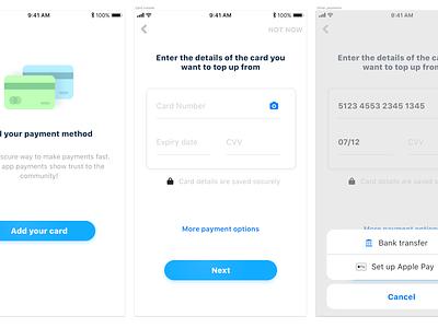 Payments Method iphonex app design ui appdesign payments market shop digital ux inteface uikit