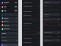 Dark UI Kit, WIP styleguide input field inputs patterns ux ui app dark mode dark theme uikit dark ui