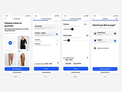 Promote your Item ios app uiux ecommerce app design ui design ui
