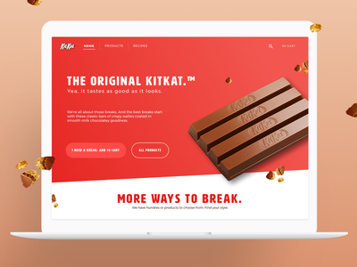 KitKat Homepage Redesign web sketch design ui  ux yamaha uiux