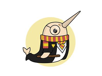 Potterwin potterhead harrypotter branding logo illustrator illustration