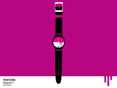 Magenta C Pantone Watch
