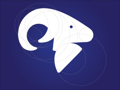 Logo Exloration circles logo explore mountain goat illustration logo design