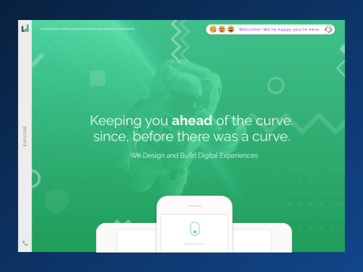 Homepage mockup website space design web design ux ui