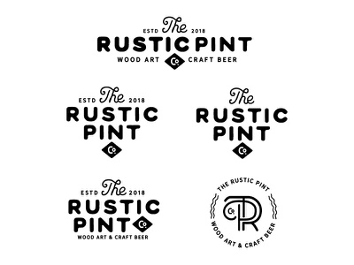 Rustic Pint Logo Exploration paint illustrator logo design beer design logo