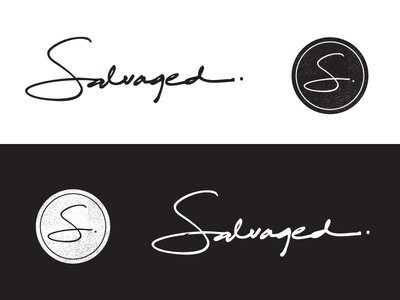 Salvaged Logo and Mark