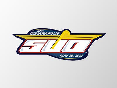 Indy 500 Logo racing typography indy500 illustrator logo design design logo