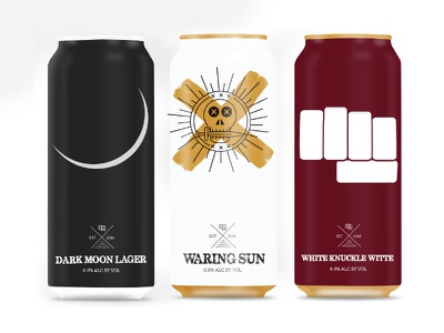 Can Design Concepts mockup minimal beer cans beer design