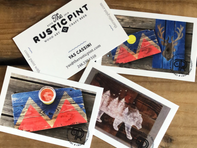 The Rustic Pint Business Cards