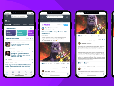 Mobile Web App - Discussion Forum