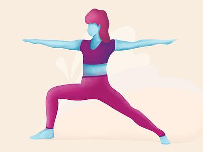 Warrior 2 illustration illustrator procreate ipad yoga design illustration design illustration