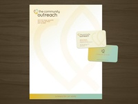 The Community Outreach - Letterhead & Business Card